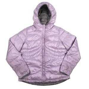 Paradox Pink Gray Reversible Down Puffer Jacket L